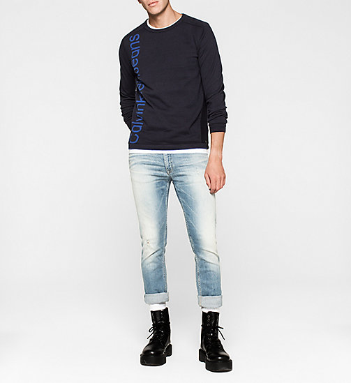 CKJEANS Logo Sweater - MONACO BLUE - CK JEANS JUMPERS - detail image 1
