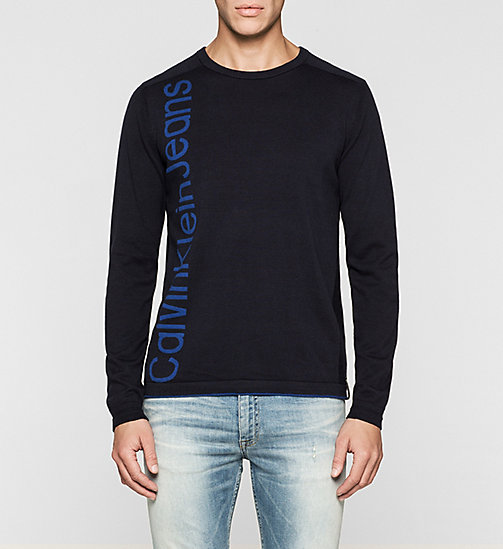 CKJEANS Logo Sweater - MONACO BLUE - CK JEANS JUMPERS - main image