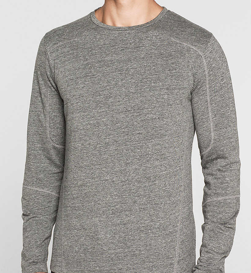 CKJEANS Heathered T-shirt - MID GREY HEATHER - CK JEANS T-SHIRTS - detail image 2