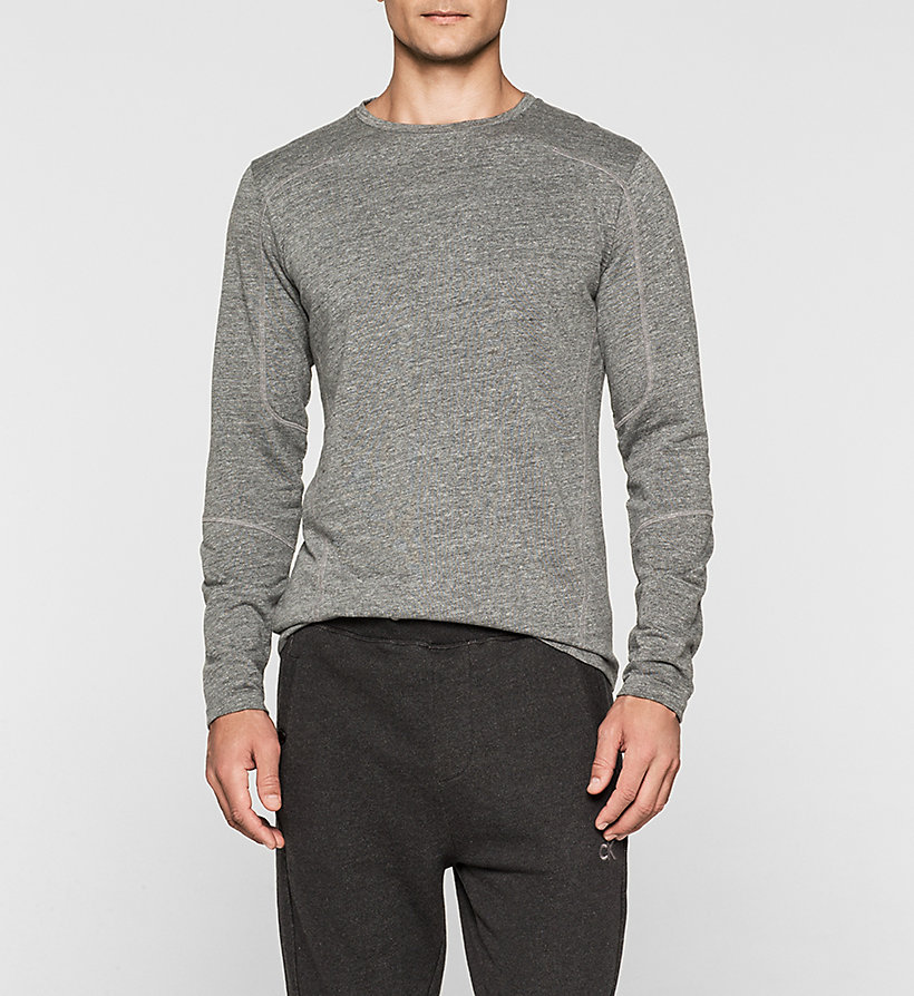 CKJEANS Heathered T-shirt - MID GREY HEATHER - CK JEANS T-SHIRTS - main image