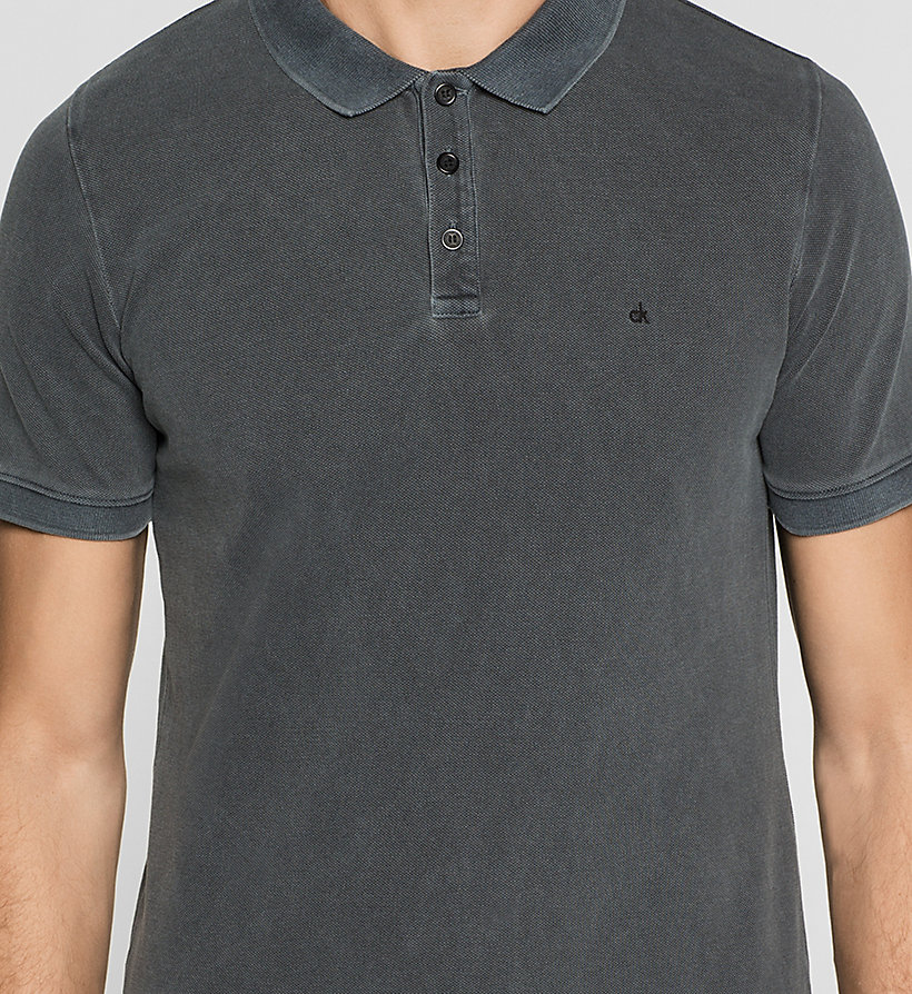 CKJEANS Fitted Cotton Piqué Polo - CK BLACK - CK JEANS POLO SHIRTS - detail image 2