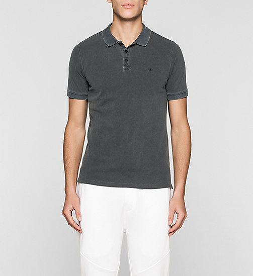 CKJEANS Fitted Cotton Piqué Polo - CK BLACK - CK JEANS POLO SHIRTS - main image