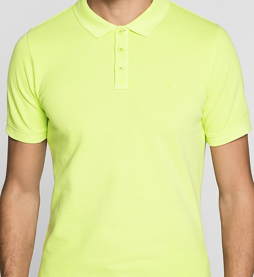 CKJEANS Fitted Cotton Piqué Polo - SHARP GREEN - CK JEANS POLO SHIRTS - detail image 2
