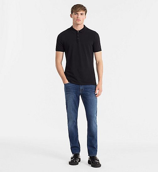 Pima Cotton Piqué Polo - CK BLACK - CK JEANS POLO SHIRTS - detail image 1