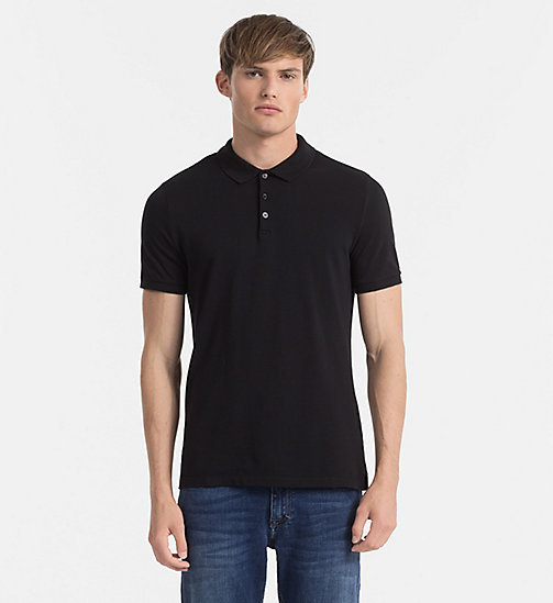 Pima Cotton Piqué Polo - CK BLACK - CK JEANS POLO SHIRTS - main image