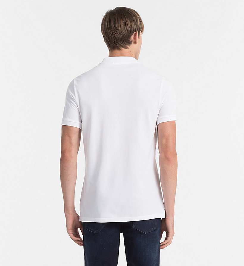 CKJEANS Pima Cotton Piqué Polo - BRIGHT WHITE - CK JEANS POLO SHIRTS - detail image 2