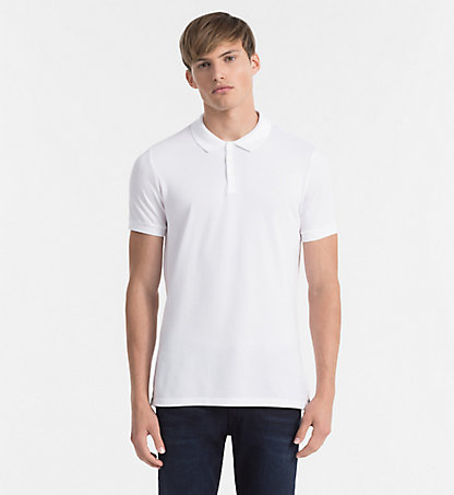 CALVIN KLEIN JEANS Cotton Piqué Polo - Paul J3EJ303832112