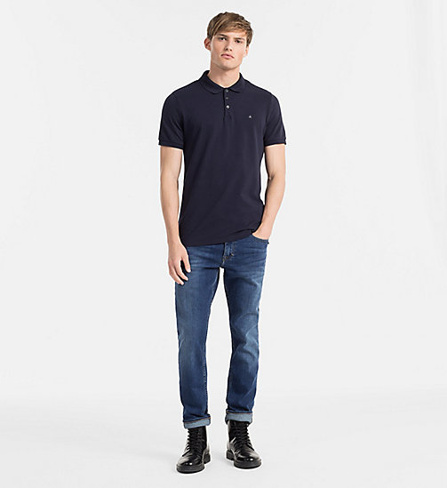 CALVIN KLEIN JEANS Pima Cotton Piqué Polo - NIGHT SKY - CALVIN KLEIN JEANS CLOTHES - detail image 1