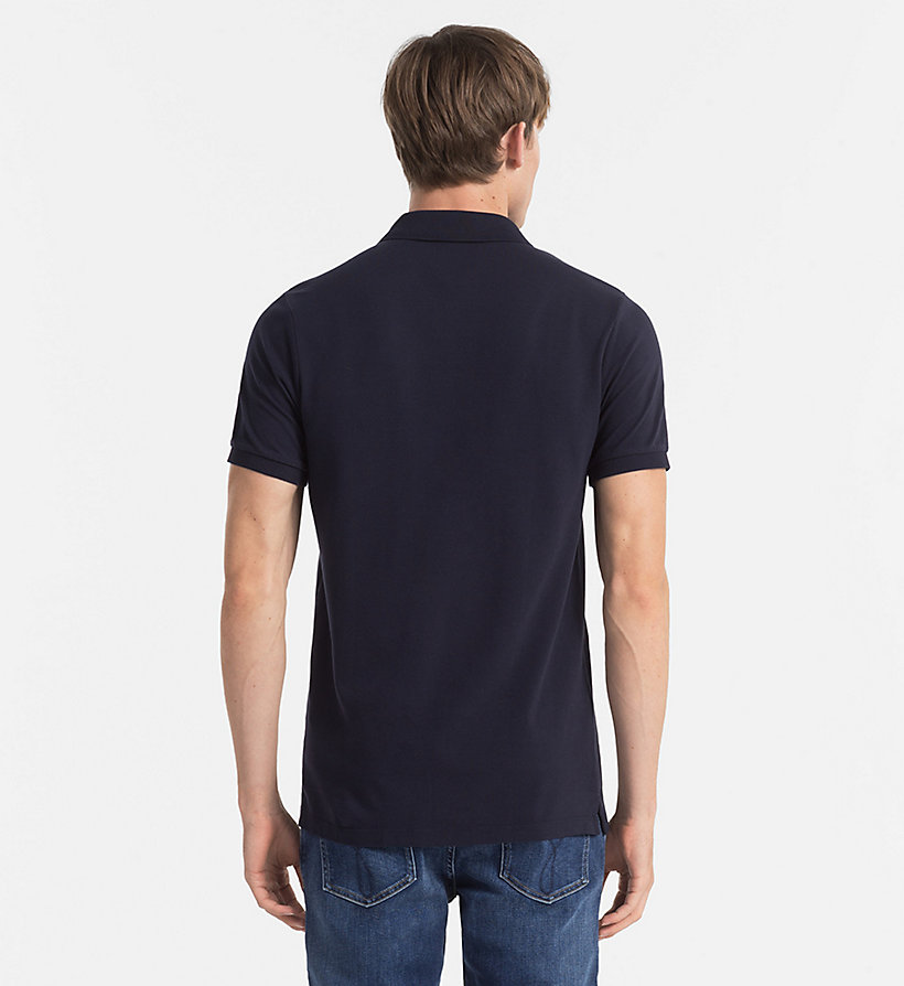 CKJEANS Pima Cotton Piqué Polo - NIGHT SKY - CK JEANS POLO SHIRTS - detail image 2