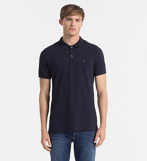 Pima Cotton Piqué Polo - NIGHT SKY - CK JEANS POLO SHIRTS - main image