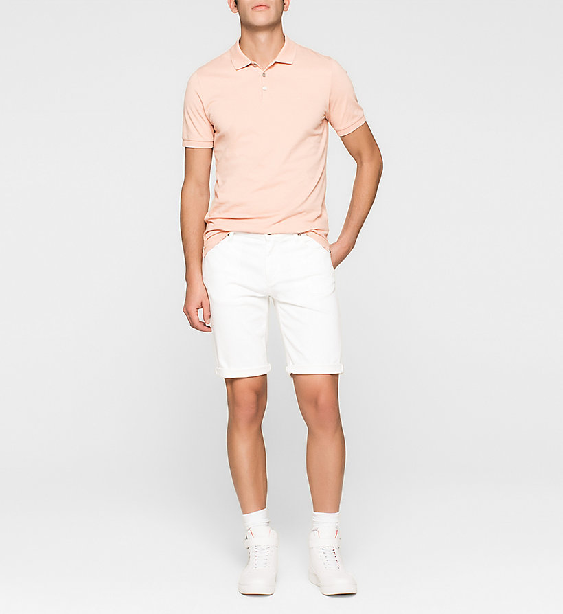 CKJEANS Pima Cotton Piqué Polo - PEACH BEIGE - CK JEANS POLO SHIRTS - detail image 1