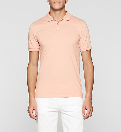 Pima Cotton Piqué Polo - PEACH BEIGE - CK JEANS POLO SHIRTS - main image