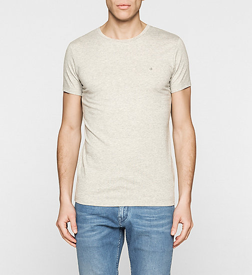 Camiseta regular - LIGHT GREY HEATHER - CK JEANS CAMISETAS - imagen principal
