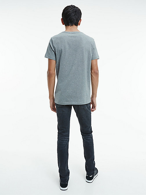 Camiseta regular con logo - MID GREY HEATHER - CK JEANS CAMISETAS - imagen detallada 1
