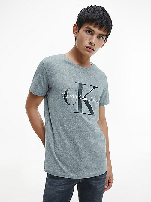 Camiseta regular con logo - MID GREY HEATHER - CK JEANS CAMISETAS - imagen principal