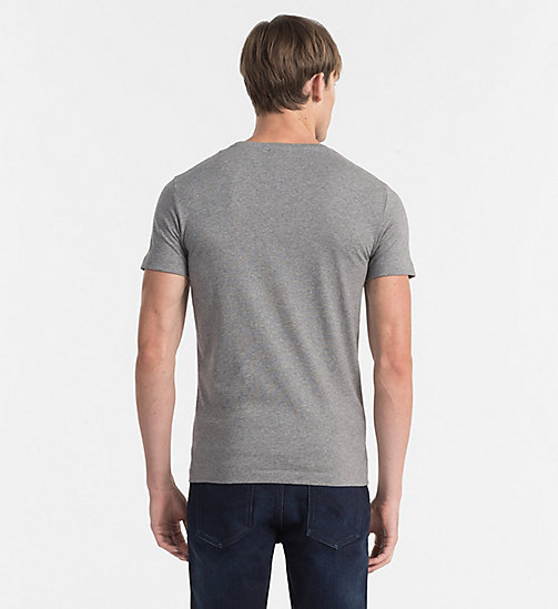 Regular Logo T-shirt - LIGHT GREY HEATHER - CK JEANS CLOTHES - detail image 1