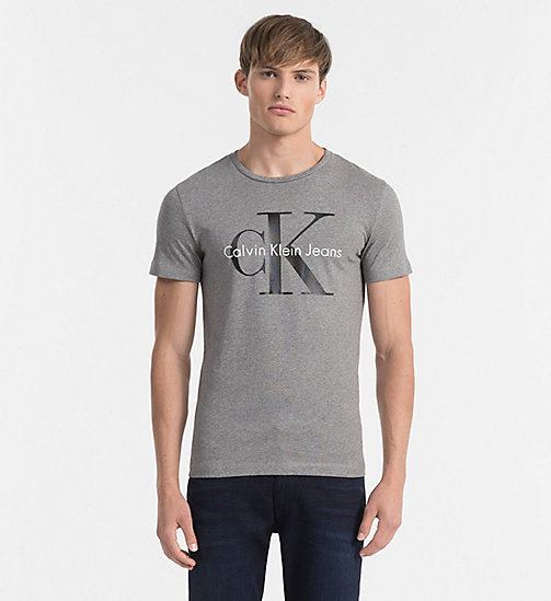 Regular Logo T-shirt - LIGHT GREY HEATHER - CK JEANS CLOTHES - main image