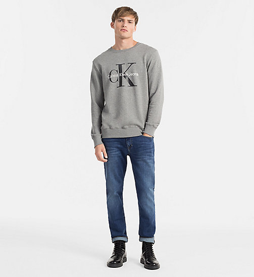 CKJEANS Logo Sweatshirt - MID GREY HEATHER - CK JEANS TRUE ICONS - detail image 1