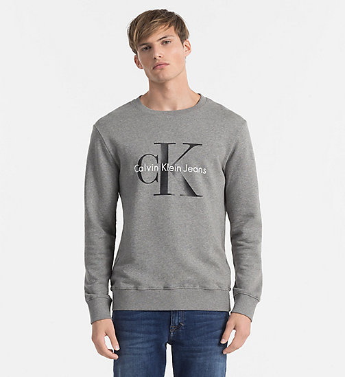 CKJEANS Felpa con logo - MID GREY HEATHER - CK JEANS TRUE ICONS - immagine principale