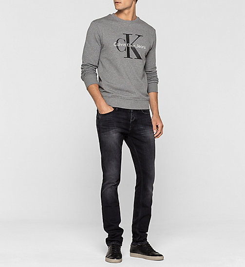 Sweatshirt met logo - LIGHT GREY HEATHER - CK JEANS  - detail image 1