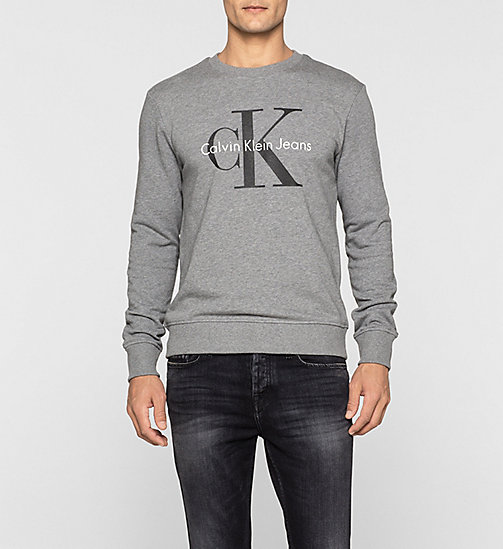 CKJEANS Felpa con logo - LIGHT GREY HEATHER - CK JEANS FELPE - immagine principale