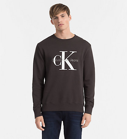 sweatshirts men calvin klein uk. Black Bedroom Furniture Sets. Home Design Ideas