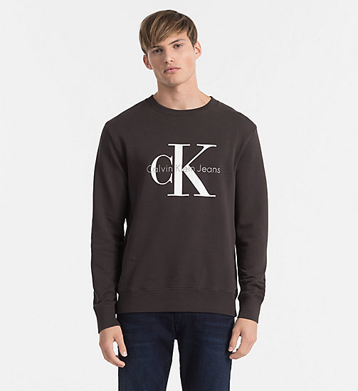 CKJEANS Logo Sweatshirt - METEORITE - CK JEANS GIFTS FOR HIM - main image