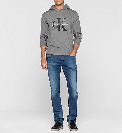 CKJEANS Sweat-shirt à capuche avec logo - LIGHT GREY HEATHER - CK JEANS SOUS-VÊTEMENTS - image détaillée 1