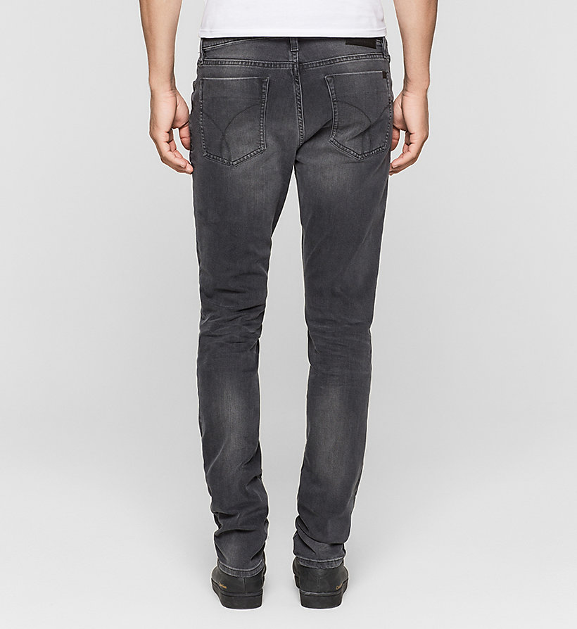 CKJEANS Slim Straight Jeans - BLACK SMOKE COMFORT - CK JEANS CLOTHES - detail image 1