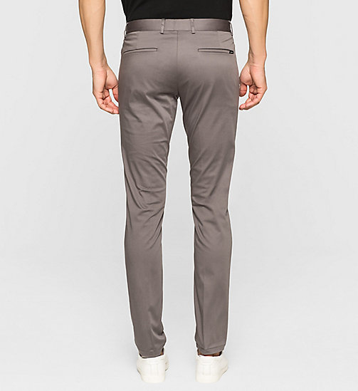 Slim Chino Trousers - ASPHALT - CALVIN KLEIN TROUSERS - detail image 1