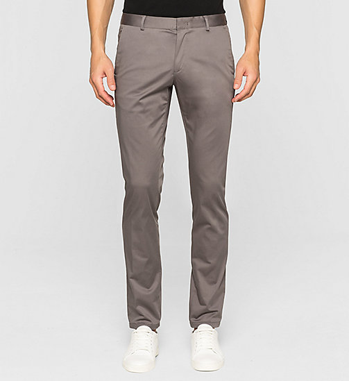 Slim Chino Trousers - ASPHALT - CALVIN KLEIN TROUSERS - main image