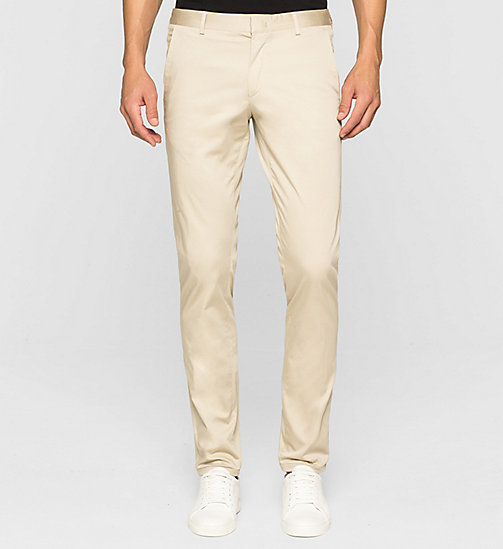 Slim Chino Trousers - KHAKI - CALVIN KLEIN TROUSERS - main image