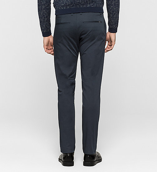 CALVINKLEIN Slim Chino Trousers - TRUE NAVY - CALVIN KLEIN TROUSERS - detail image 1