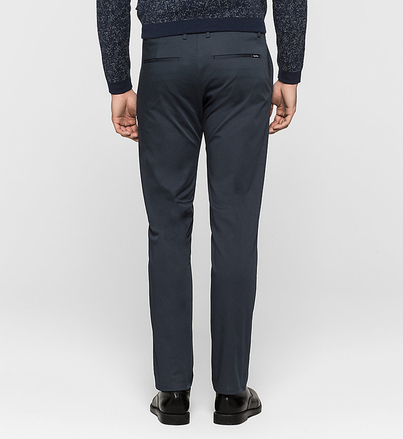 CALVINKLEIN Slim Chino Trousers - TRUE NAVY - CALVIN KLEIN CLOTHES - detail image 1