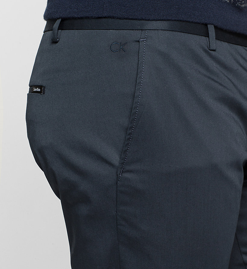CALVINKLEIN Slim Chino Trousers - TRUE NAVY - CALVIN KLEIN CLOTHES - detail image 2
