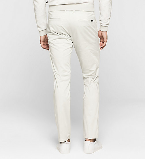 Slim Chino Trousers - LIGHT ZINC - CALVIN KLEIN  - detail image 1