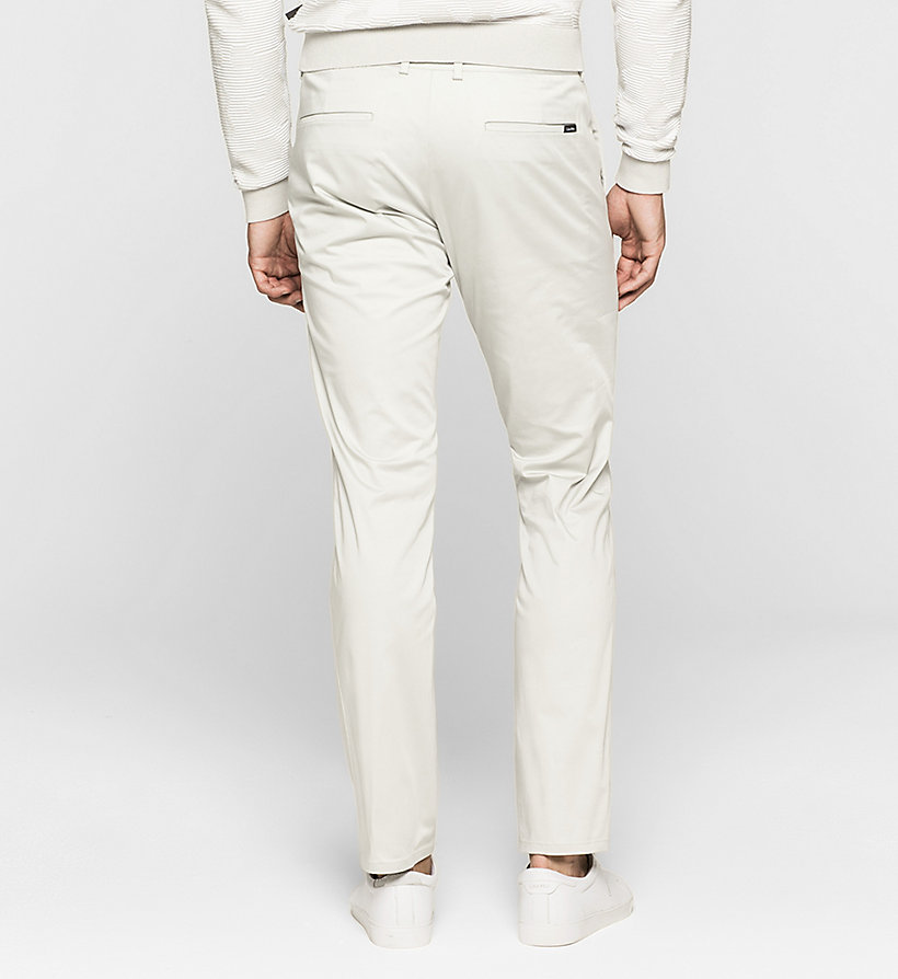 CALVINKLEIN Slim Chino Trousers - LIGHT ZINC - CALVIN KLEIN CLOTHES - detail image 1