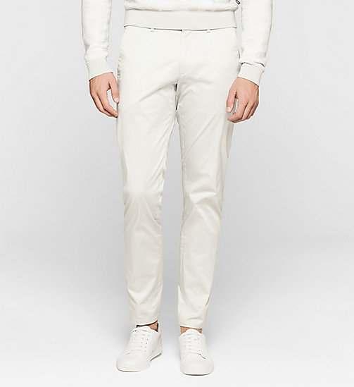 Slim Chino Trousers - LIGHT ZINC - CALVIN KLEIN  - main image
