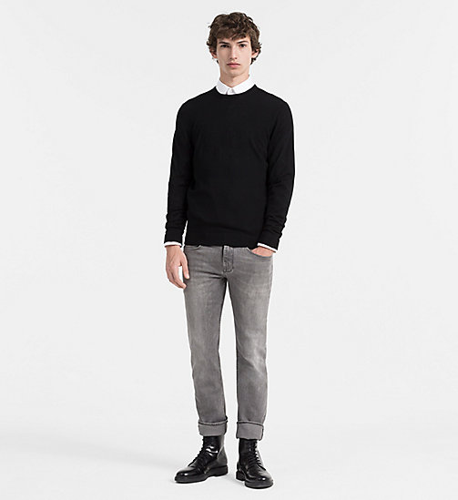 Superior Wool Sweater - PERFECT BLACK - CALVIN KLEIN  - detail image 1