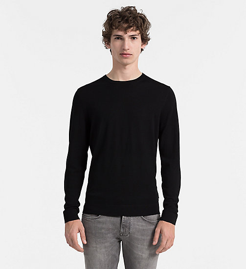 CALVINKLEIN Superior Wool Sweater - PERFECT BLACK - CALVIN KLEIN JUMPERS - main image
