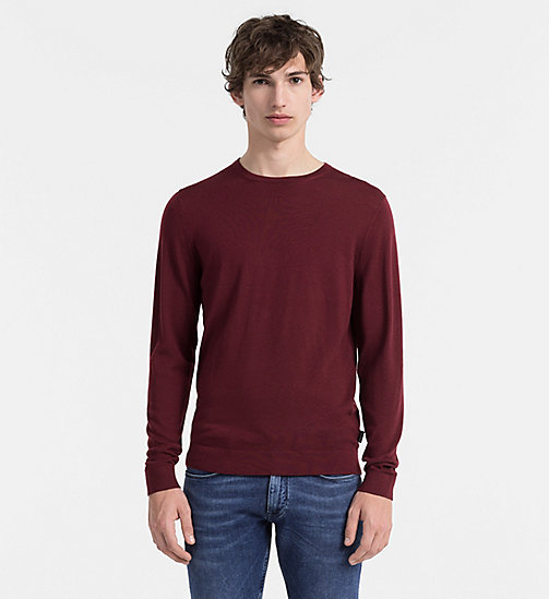 CALVINKLEIN Superior Wool Sweater - ZINFANDEL - CALVIN KLEIN JUMPERS - main image
