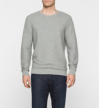CALVIN KLEIN Textured Sweater - Saymore K10K100030039