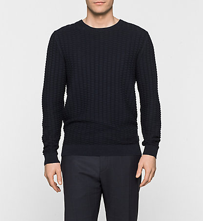 CALVIN KLEIN Textured Sweater - Saymore K10K100030478