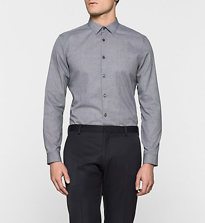 CALVIN KLEIN Fitted Dress Shirt - Wallace K10K100032013