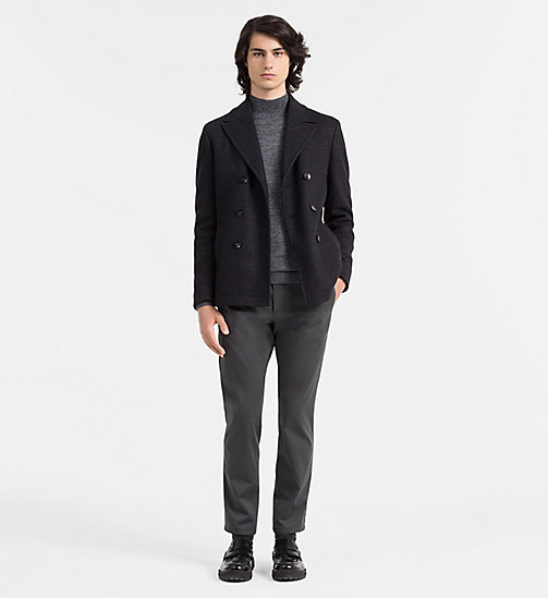 CALVINKLEIN Mouliné Wool Turtleneck Sweater - MID GREY HEATHER - CALVIN KLEIN CLASSICS TO FALL FOR - detail image 1