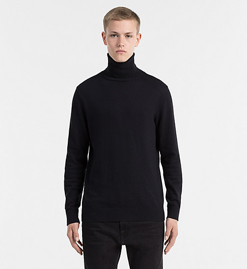 CALVIN KLEIN JEANS Superior Wool Turtleneck Sweater - PERFECT BLACK - CALVIN KLEIN JUMPERS - main image