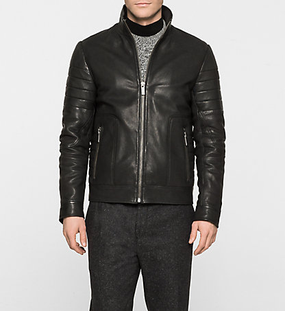 CALVIN KLEIN Leather Jacket - Lexter K10K100120013