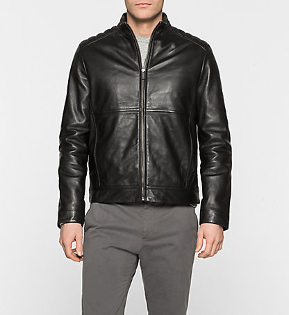 CALVIN KLEIN Leather Jacket - Leam K10K100167013