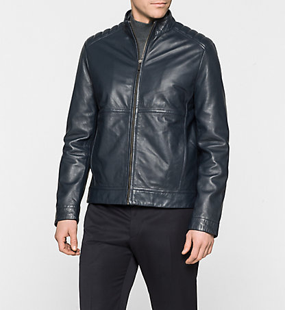 CALVIN KLEIN Leather Jacket - Leam K10K100167036