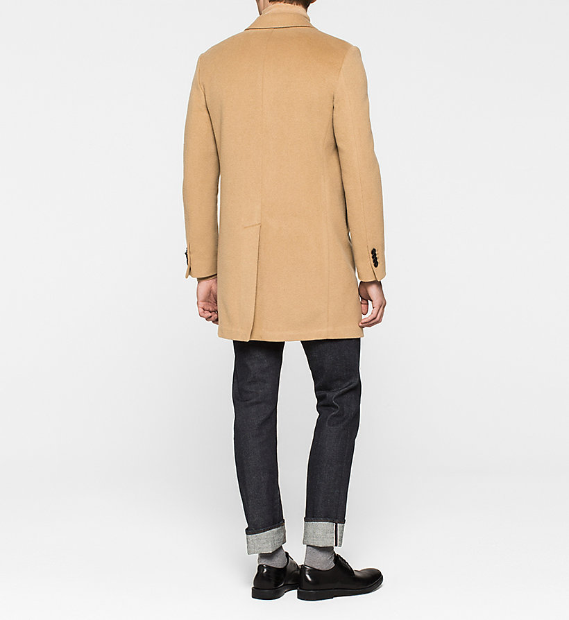 CALVINKLEIN Wool/Cashmere Blend Coat - CAMEL - CALVIN KLEIN CLOTHES - detail image 2
